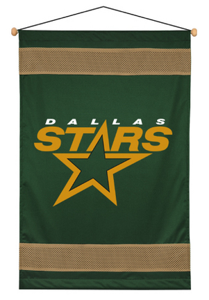 """Dallas Stars 29.5"""" x 45"""" Coordinating NHL """"Sidelines Collection"""" Wall Hanging from Kentex"""