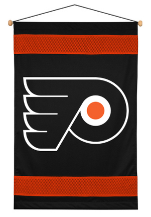 """Philadelphia Flyers 29.5"""" x 45"""" Coordinating NHL """"Sidelines Collection"""" Wall Hanging from Kentex"""