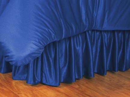 Kansas Jayhawks Coordinating Full Bedskirt for the Locker Room or Sidelines Collection by Kentex