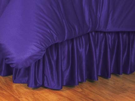 Louisiana State (LSU) Tigers Coordinating Full Bedskirt for the Locker Room or Sidelines Collection by Kentex