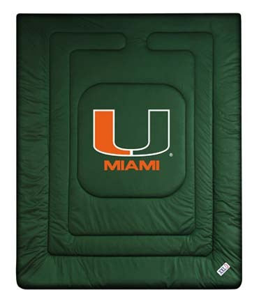 """Miami Hurricanes Jersey Mesh Full/Queen Comforter from """"The Locker Room Collection"""" by Kentex"""