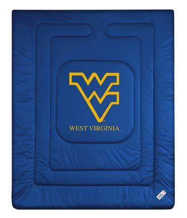 West Virginia Mountaineers Jersey Mesh Twin Comforter from 'The Locker Room Collection' by Kentex