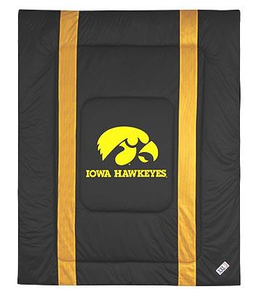 "Iowa Hawkeyes Jersey Mesh Twin Comforter from ""The Sidelines Collection"" by Kentex"