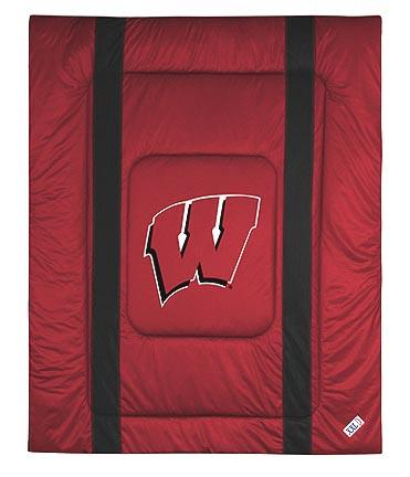"Wisconsin Badgers Jersey Mesh Twin Comforter from ""The Sidelines Collection"" by Kentex"