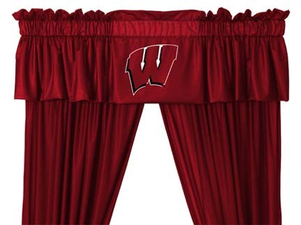 Wisconsin Badgers Coordinating Valance for the Locker Room or Sidelines Collection by Kentex
