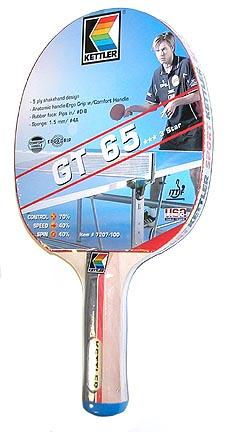 "KETTLER ""Challenge Professional"" GT-65 Table Tennis Racquet - Set of 2 Racquets"