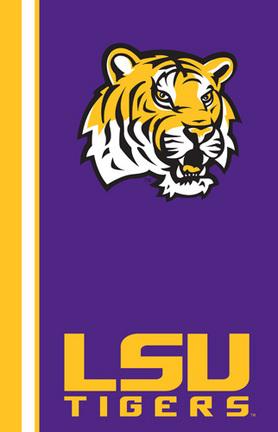 "Louisiana State (LSU) Tigers 84"" x 54"" UltraSoft Blanket"
