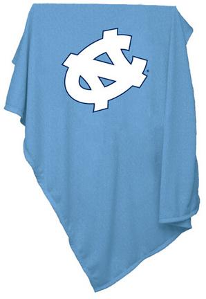 """North Carolina Tar Heels 84"""" x 54"""" Sweatshirt Blanket / Throw"""