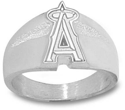 Los Angeles Angels of Anaheim 'A' 5/8in Men's Ring - Sterling Silver Jewelry (Size 10 1/2)