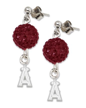 Los Angeles Angels of Anaheim Ovation Crystal Earrings