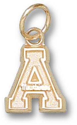 "Appalachian State Mountaineers 3/8"" ""A"" Lapel Pin - Sterling Silver Jewelry"
