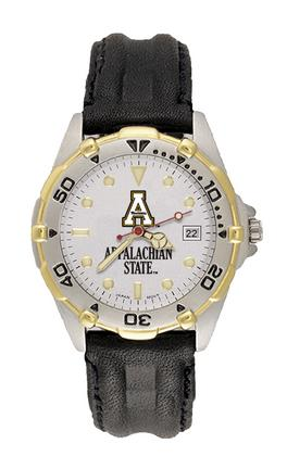 Appalachian State Mountaineers Men's All Star Watch with Leather Band from Hana Time