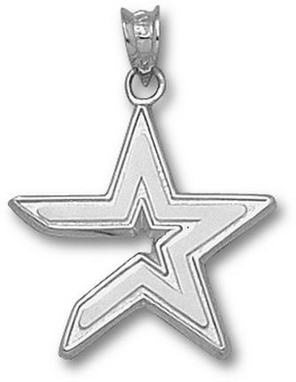 Houston Astros Star 3/4 Pendant Sterling Silver Jewelry
