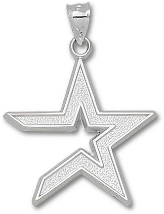 Houston Astros Giant 1 1/4 W X 1 1/4 H Star 1 1/4 Pendant Sterling Silver Jewelry