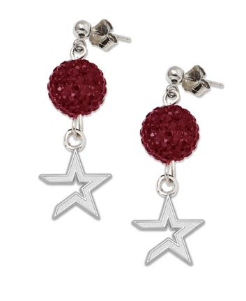 Houston Astros Ovation Crystal Earrings