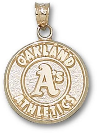 Oakland Athletics 'Athletics Logo' 5/8 inch Pendant - 14KT Gold Jewelry