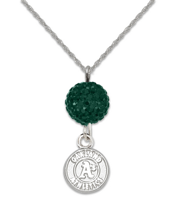 Oakland Athletics Ovation Crystal Necklace