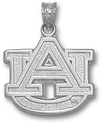 "Auburn Tigers 5/8"" ""AU"" Lapel Pin - Sterling Silver Jewelry"