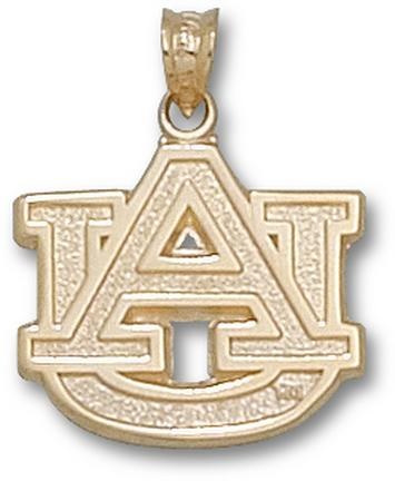 "Auburn Tigers 5/8"" ""AU"" Lapel Pin - 14KT Gold Jewelry"