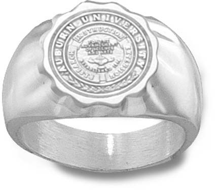 Auburn Tigers Seal Mens Ring Size 12 Sterling Silver Jewelry