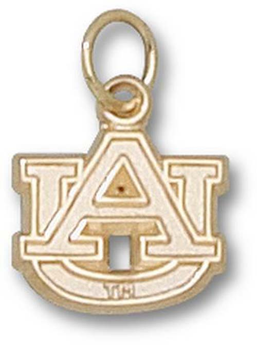 "Auburn Tigers 3/8"" ""AU"" Lapel Pin - 10KT Gold Jewelry"