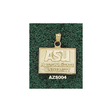 """Arizona State Sun Devils Rectangular """"ASU"""" Lapel Pin - 10KT Gold Jewelry"""