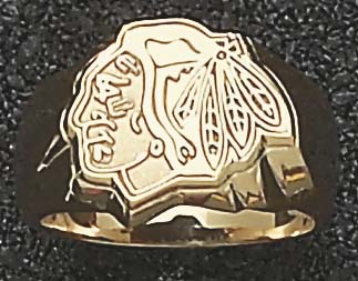 Detroit Red Wings Logo 58 Mens Ring Size 11  14KT Gold Jewelry