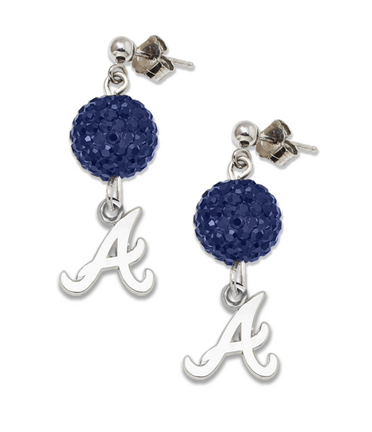 Atlanta Braves Ovation Crystal Earrings
