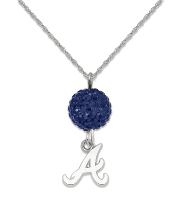 Atlanta Braves Ovation Crystal Necklace