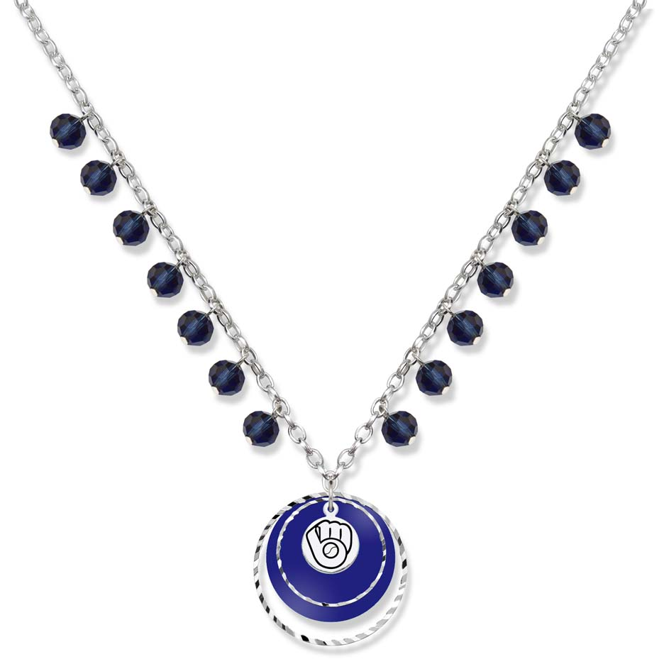 Milwaukee Brewers Game Day Necklace LGA-BRE068N-CR