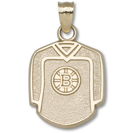 Boston Bruins 5/8in Jersey Pendant - 10KT Gold Jewelry