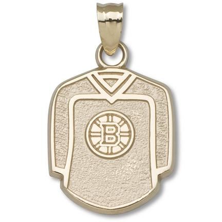 Boston Bruins 5/8in Jersey Pendant - 10KT Gold Jewelry