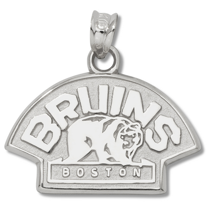 Boston Bruins 1/2in Bear Logo Pendant - Sterling Silver Jewelry