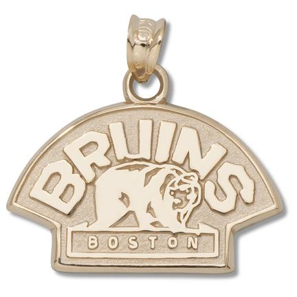 Boston Bruins 1/2in Bear Logo Pendant - 10KT Gold Jewelry