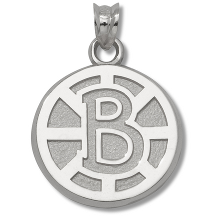 Boston Bruins 5/8 B Nhl Winter Classic Logo Pendant Sterling Silver Jewelry