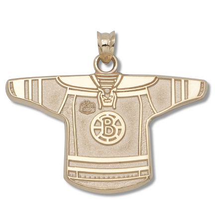 Boston Bruins 3/4in 'B' NHL Winter Classic Jersey Pendant - 14KT Gold Jewelry