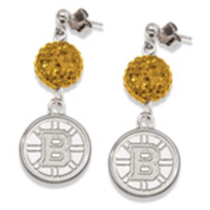 Boston Bruins Ovation Crystal Earrings