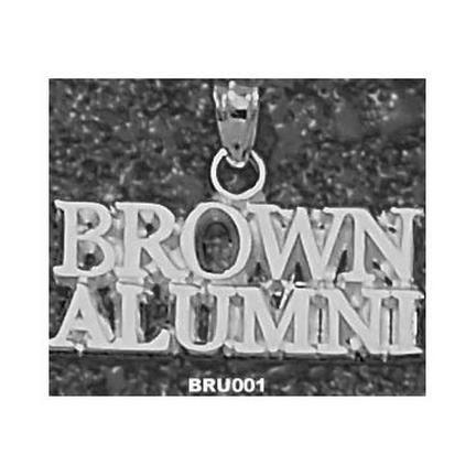 """Brown Bears """"""""Brown Alumni"""""""" Pendant - Sterling Silver Jewelry"""" LGA-BRU001-S"""