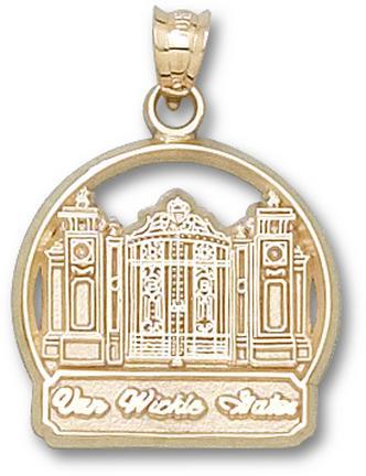 "Brown Bears """"Van Wickle Gates"""" Pendant - 14KT Gold Jewelry"" LGA-BRU002-G"