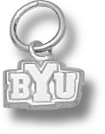 "Brigham Young (BYU) Cougars """"BYU"""" 3/16"""" Charm - Sterling Silver Jewelry"" LGA-BYU017-S"