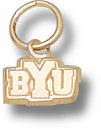 "Brigham Young (BYU) Cougars """"BYU"""" 3/16"""" Charm - 14KT Gold Jewelry"" LGA-BYU017-G"