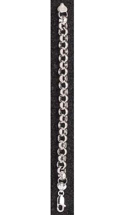 """9 mm Rollo 7"""" Bracelet  - Sterling Silver Jewelry"""