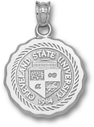 Cleveland State Vikings Seal Pendant - Sterling Silver Jewelry