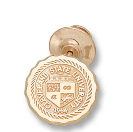 """Cleveland State Vikings """"Seal"""" Lapel - 10KT Gold Jewelry"""
