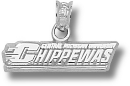 Central Michigan Chippewas Chippewas Pendant - Sterling Silver Jewelry