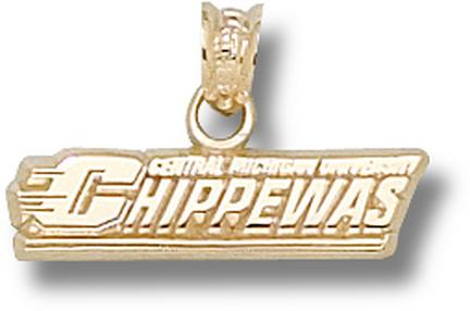 Central Michigan Chippewas Chippewas Pendant - 14KT Gold Jewelry
