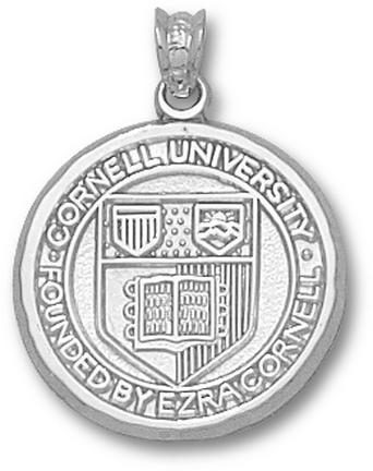 Cornell Big Red Bears Seal 3/4 Pendant Sterling Silver Jewelry