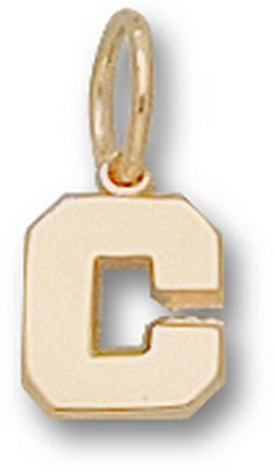 Cornell Big Red Bears C 1/4 Charm - 14KT Gold Jewelry