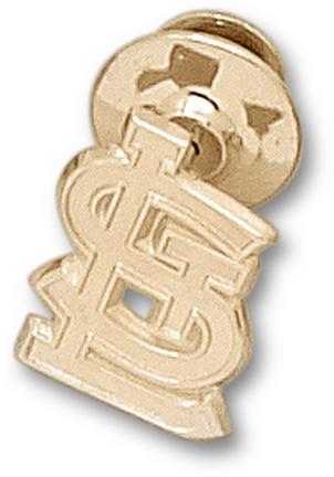 """St. Louis Cardinals 5/8"""" """"STL"""" Logo Lapel Pin - 10KT Gold Jewelry"""