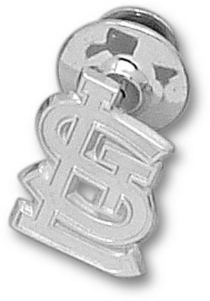 """St. Louis Cardinals 5/8"""" """"STL"""" Logo Lapel Pin - Sterling Silver Jewelry"""